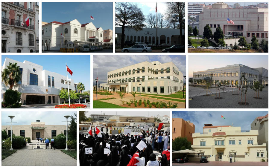 Bahrain embassies and consulates