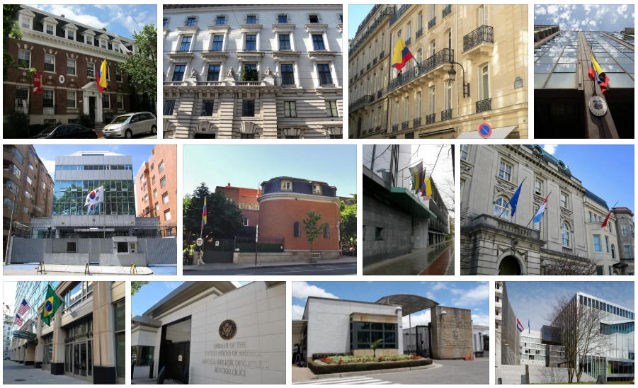 Colombia embassies and consulates