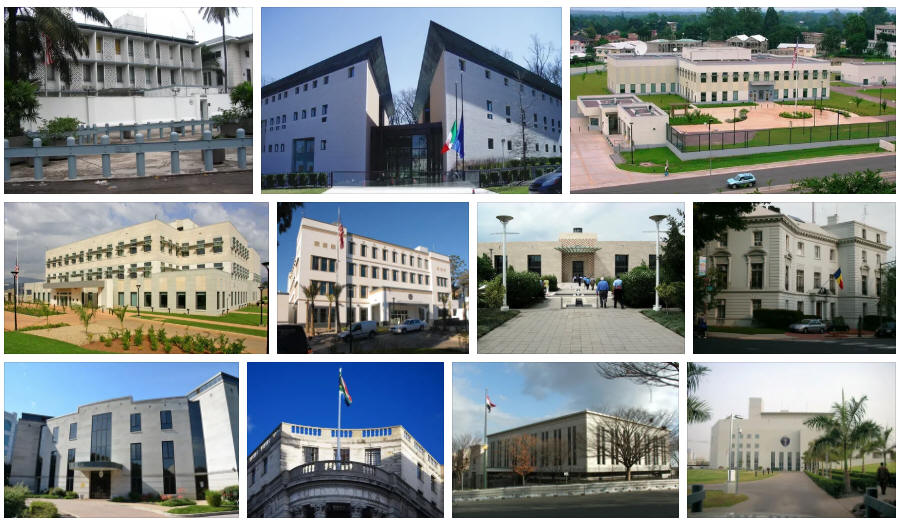 Democratic Republic of the Congo embassies and consulates