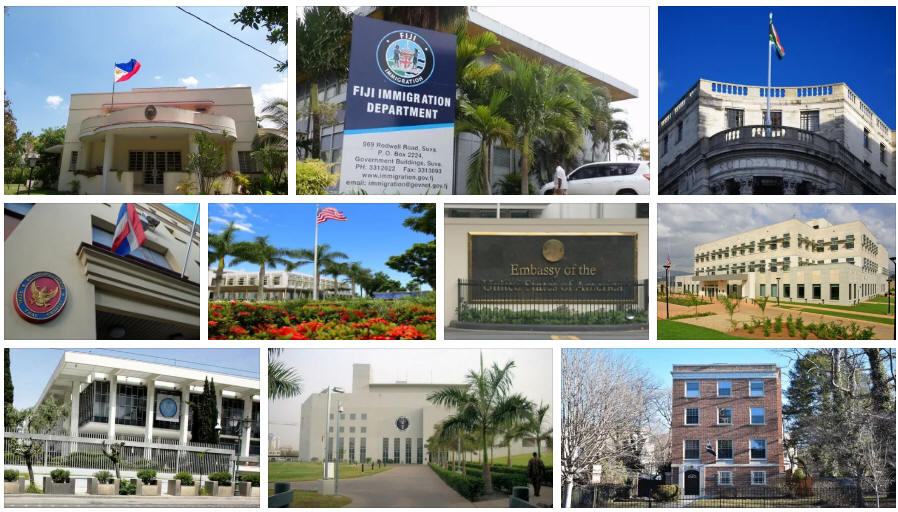 Fiji embassies and consulates